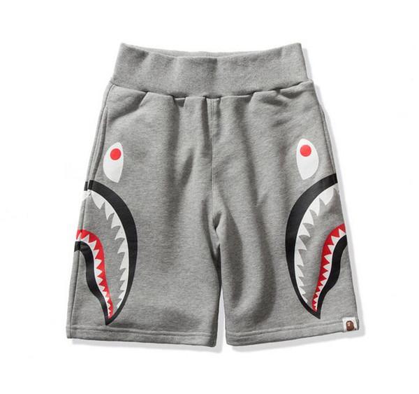 Summer Lover Camo Shark Mouth Imprimer Pantalon Décontracté Hommes Femmes Coton Casual Hip Hop Beach Shorts Livraison Gratuite
