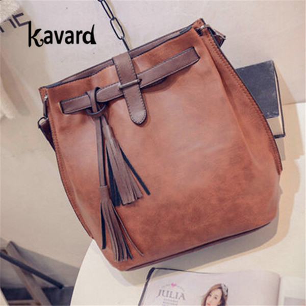 2019 Fashion Drop shipping designer bags famous brand women bag Bucket Tassel bags for women leather handbag sac a main femme bolsos ladies