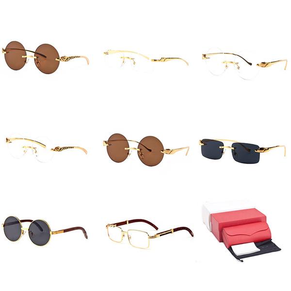 7e24b0742e1 Optical Frame Wood Sunglasses Round Buffalo Horn Best Selling Reader  Sunglasses Clear Frame Popular Eyeglasses Brands Vintage Eyewear C34