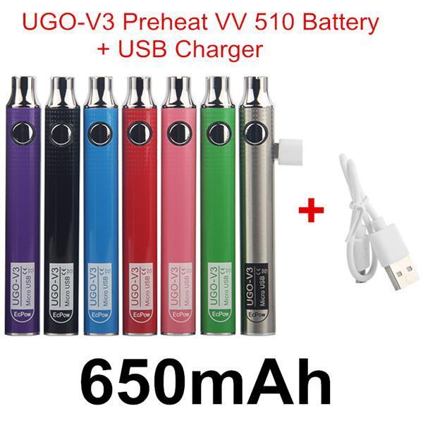 Autêntico UGO V3 Pré-aquecimento VV 650mAh + USB