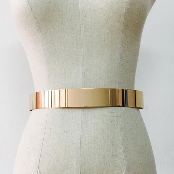 Cintura in metallo regolabile da donna Cintura in lamiera metallica Cinture vintage Accessori per bambini Accessori Cinture semplici da donna Oro argento Harajuku