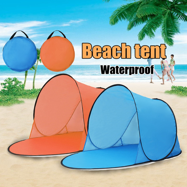 Outdoor Portable Waterproof Camping Beach Tent Pop Up Open Camping Tent Fishing Hiking Outdoor Automatic Instant Portable