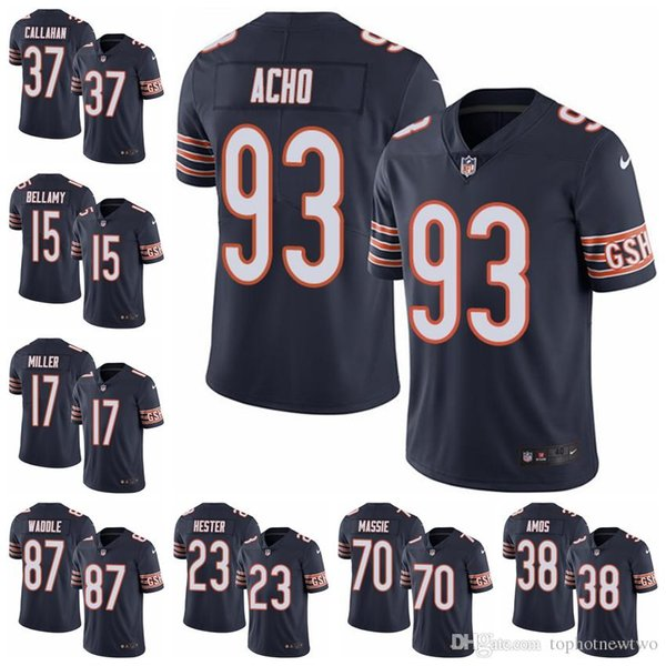new arrivals 6807c f423c 2019 Chicago Limited Home Football Jersey Bears Navy Blue Vapor Untouchable  52 Khalil Mack 10 Mitchell Trubisky 54 Brian Urlacher From Jerseyptb13, ...