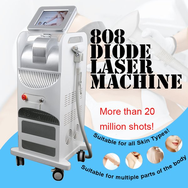 2019 New 808nm Diode Laser Hair Removal Machine Non-channel Handle with More Than 20 Million Shots 808nm Laser Equipment