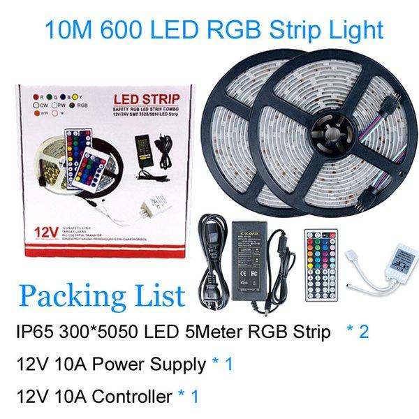 5050 RGB 10M / 10A 600LEDs IP65
