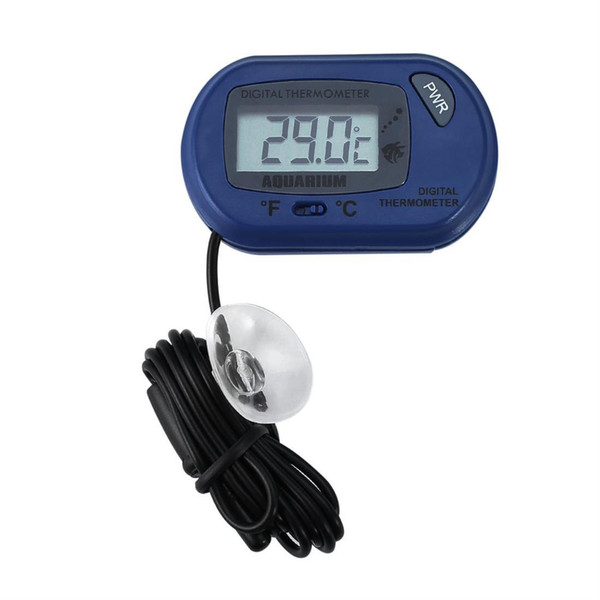 LCD Digital Fish Aquarium Thermometer Water Terrarium FREE Extra Batteries