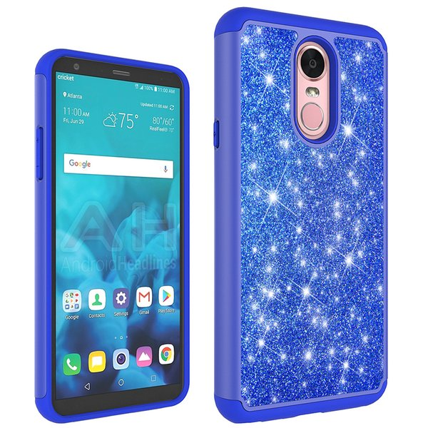 TPU+PC Hybrid Glitter Bling Case For LG K4 LTE Spree Optimus Zone 3 VS425PP  Stylo 2 Plus Stylus Shockproof Protective Cover Waterproof Cell Phone