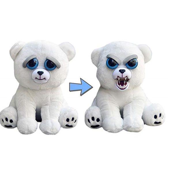1PC Feisty Pets 22cm Unicorns 17 patterns Dolls Face Changs William Mark Grandmaster Plush toys Stuffed Polar Bear Dog Panda Tiger Raccoon
