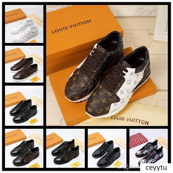 Newst Luxo Design Os homens Shoes amantes de couro Top confortável real respirável Lazer Suede Homens Mulheres Sapatos baratos melhor qualidade com Box
