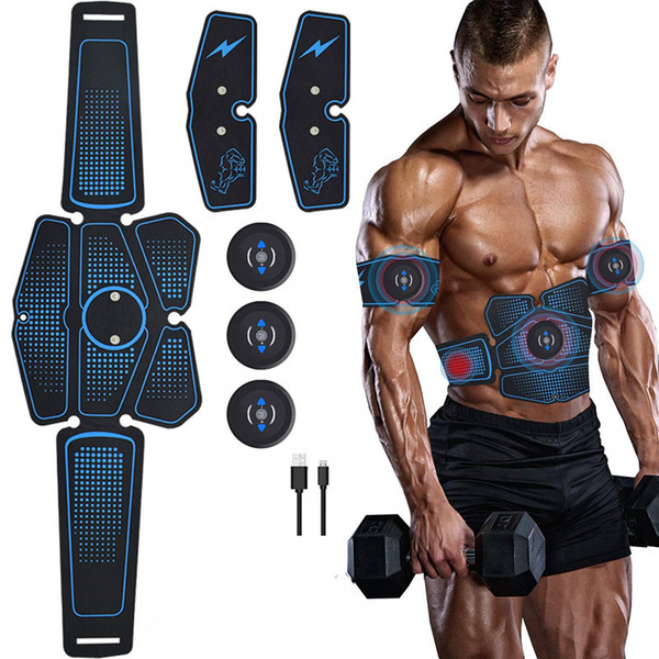top popular ABS Abdominal Muscle Trainer Electric Press Stimulator Slimming Fitness EMS Exercise Machine Home Gym Fitness Equipment Training 2021