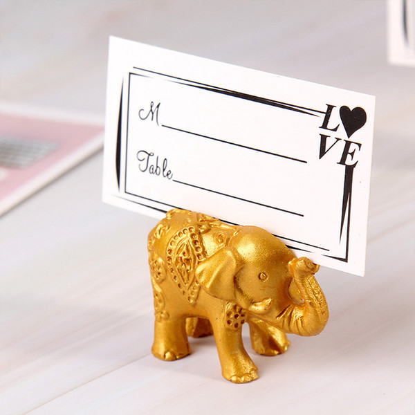 Elephant Place Card Holders Photo Clips Wedding Favor Birthday Wedding Party Baby Shower Gift