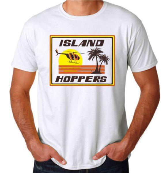 ISLAND HOPPERS magnum 80/'s retro tv show Mens Cotton T-Shirt