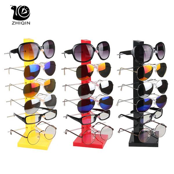 6 Schicht Kunststoff Gläser Display Sonnenbrille Display Gläser Veranstalter Halter Schmuck Aufbewahrungsbox Rack