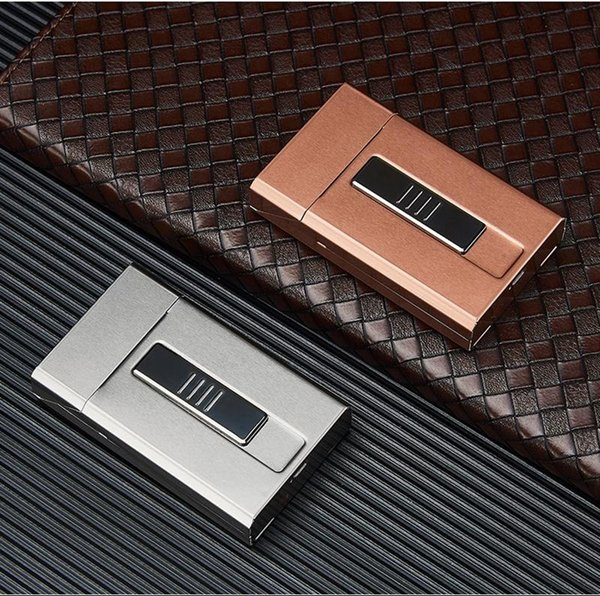 Automatically Open Colorful Cigarette Case USB Lighter Shell Casing Storage One Body Box High Quality Portable Exclusive Design