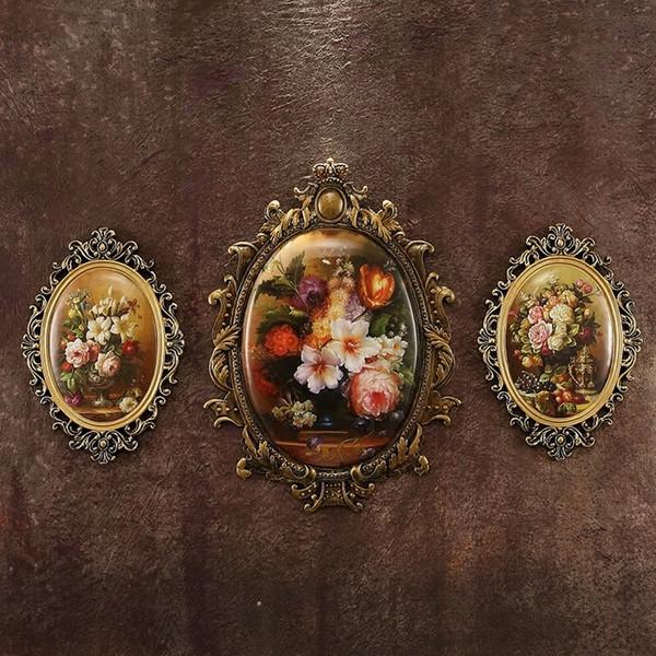 Europei di alta qualità in resina per parete Decoration Specchi Soggiorno pittura regalo di nozze mestieri fornire domestico Retro ornamento CJ191209