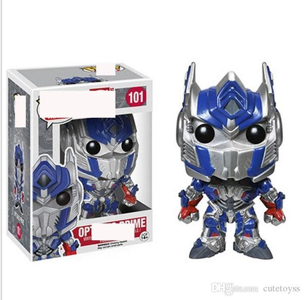 Pretty store Anime Toys For Children FUNKO POP Deformed Autobots Action Figure Collection Toy Toys For Kids gift factory price