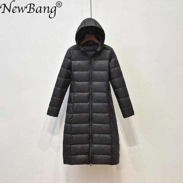 2019 NewBang Brand Women Long Down Coat Female Lightweight Duck Down Jacket For Women Feathers Coat Winter Windbreaker Warm Parka From Watch2013,