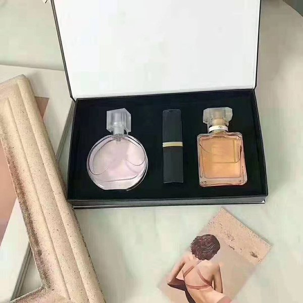 top popular Hot Brand Makeup Set Collection Matte Lipstick 15ml Perfume 3 in 1 Cosmetic Kit with Gift Box for Women 2021