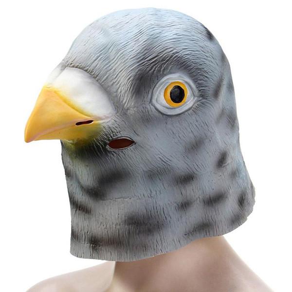 Máscara de paloma de látex artificial de Halloween Fiestas de disfraces Cosplay Gadget Chistes