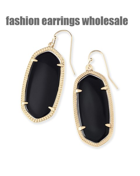 2019 fashion new European American style women designer wholesale manufacturer earrings silver jewelry party lover men red cycle