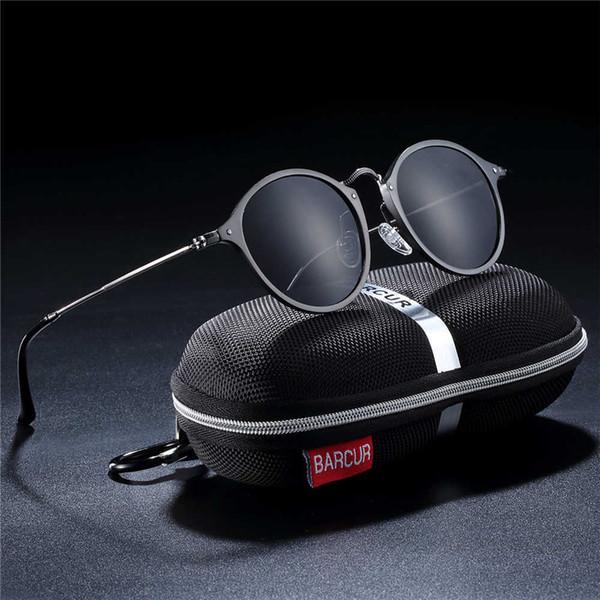 Barcur Aluminum Vintage Sunglasses For Men Round Sunglasses Men Retro Glasses Male Famle Sun Glasses Retro Oculos Masculino Y19052001