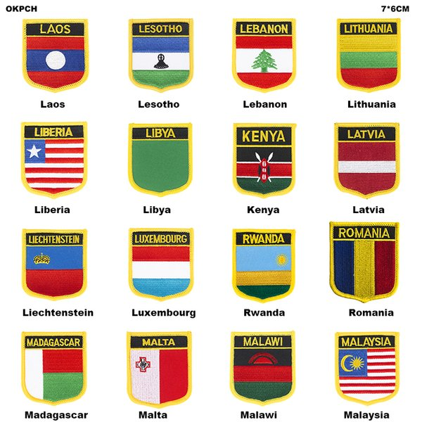 UK United Jack Flag Patch Jacket Denim Clothing Patches Embroidery Iron on Country Flag Badge Backpack Flag Badges