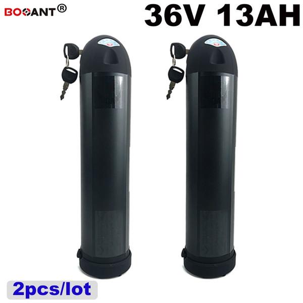 2 unids / lote 36V 13Ah E-bike Batería de Litio Para Bafang BBSHD 500W 800W Motor + 2A Cargador de Bicicleta Eléctrica 36V Envío Gratis