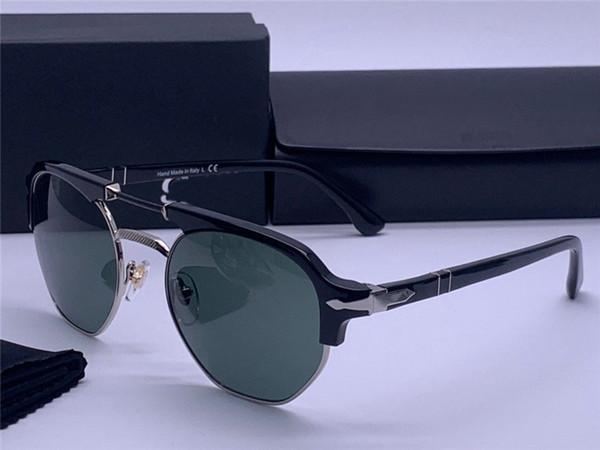 Lunettes de soleil du créateur de mode 2320 classic retro pilot monture pliante lentille en verre lunettes de protection UV400 avec étui en cuir
