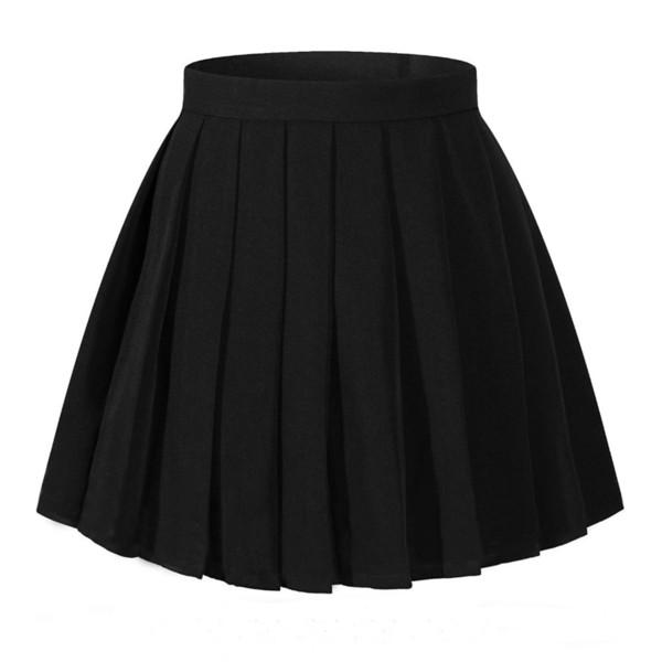 Falda plisada de cintura alta para mujer Mini faldas Uniforme escolar Falda a cuadros Falda Cosplay Disfraces MX190730