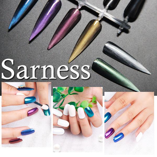Sarness Color Holographic Nail Art Flash Super fine Nail Art Decorazione Gioielli Fosforo Laser Scintillio Scaglie di paillettes
