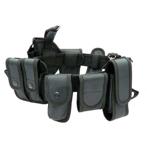 Cinghie di sicurezza multifunzionali Cinghia di cintura di dovere di Kit di utilità di guardia tattico all'aperto di addestramento con il sacchetto Set