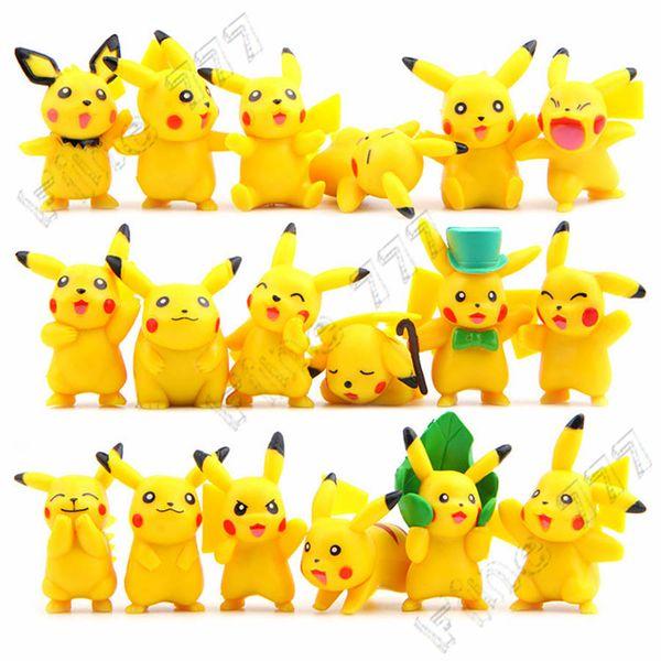 18 style classique anime Pokemons PVC poupée ornements Pikachu décoration poupée gâteau décoration jouet jouet pour enfants