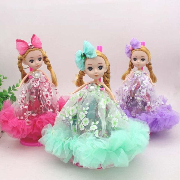 18cm Mini Cute Ear Phone Confused Doll Keychain Best Toy Doll Gift For Girl Baking Mold Car Decration