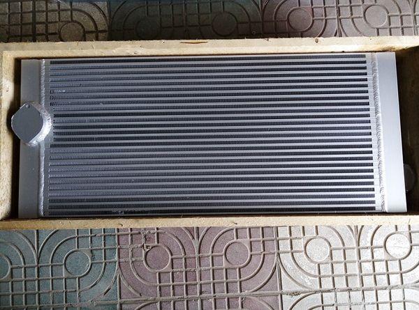 Silvery OEM aluminum fin heat exchanger air cooler oil cooler combined radiator 1613951200(1613-9512-00) for Atlas Copco GA55-90 machine