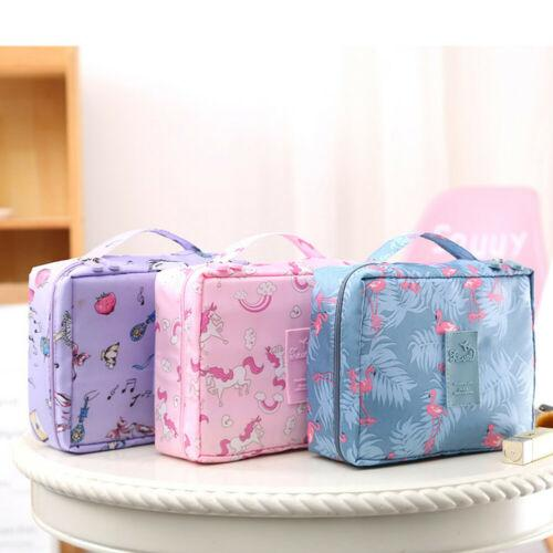 Expandable Professional Large Makeup Bag Cosmetic Storage Flower Pouch Hanging Bag Handle Toiletry Case Wash Organizer Travel