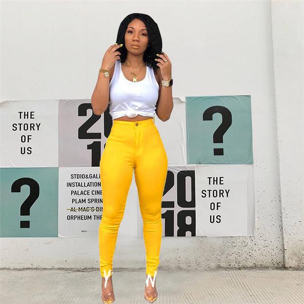 nuevo pantalón de mujer cintura alta cremallera mosca flaco lápiz pantalones ropa deportiva vintage leggings pantalones largos 5 color S-2XL traje