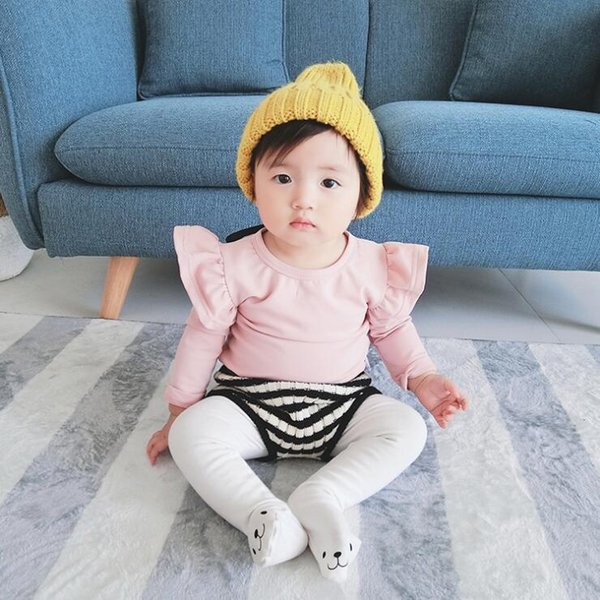Girls autumn solid t shirt kids girl all match t-shirt baby o-neck long sleeve white gray pink cotton clothes children 6-36M