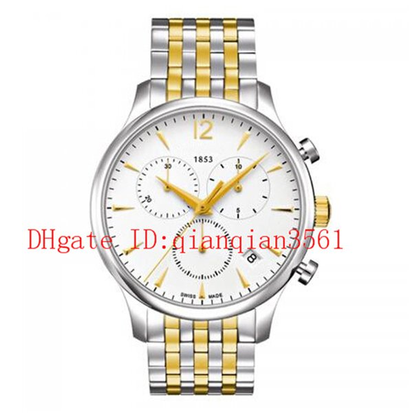 Free Shipping T063.617.22.037.00 Classic men quartz stainless steel watch 42mm white dial watches