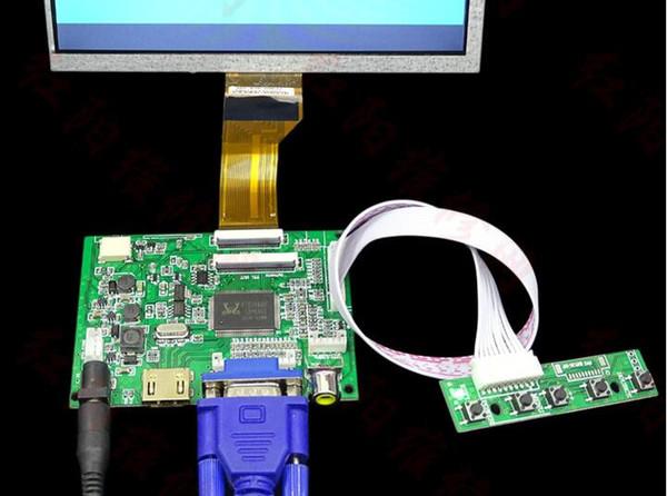 HDMI VGA 2AV LVDS ACC TTL Lcd Display Controller 50pin Board kit for 7 8 9 inch LCD Monitor Raspberry Banana Pi pcduino C4-008