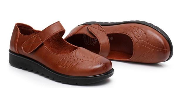 2019 Souliers pour dames au printemps et en automne avec des souliers mères portables et antidérapants à fond plat et à style nouveau style @ 358