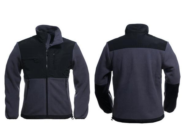 Fashion-ality brand new Fleece mens Fleece Jacket , Winter Outdoor Sports Warm Fleece Sweatshirt Outerwear Black White S-XXL