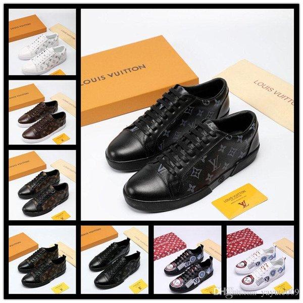 AA formateurs de conception unisexe chaussures chaussures de course pour femmes d'hommes coureurs appartements véritables chaussures de luxe de coureur de marque en cuir 38-45