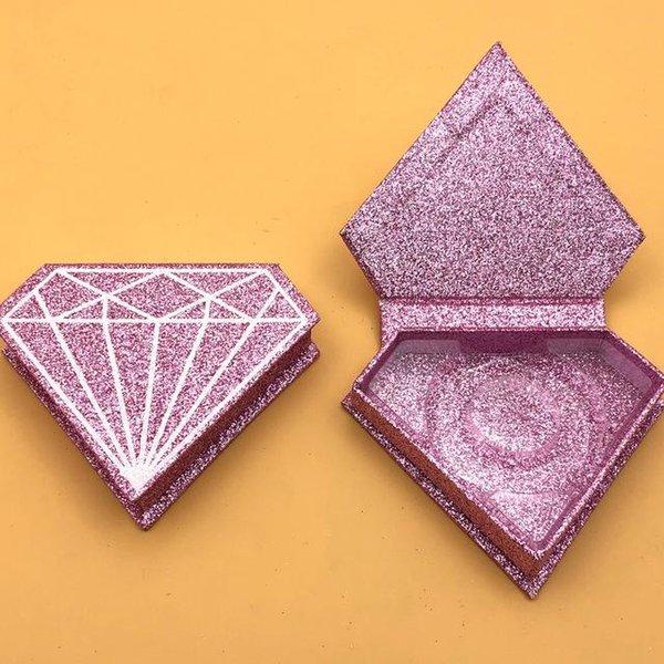 scatola di glitter rosa