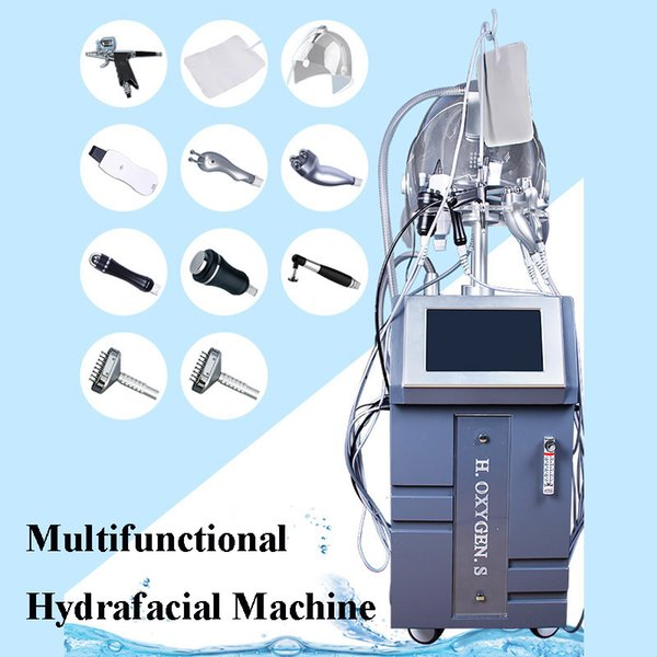 Hydra facial cleaner hydro dermabrasion water peeling water dermabrasion peeling skin care machine with 10 handles for salon use