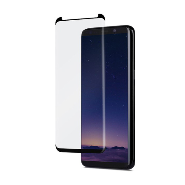 Case friendly Glass Full Cover For Samsung S10 Plus Note 9 Full Curved Protector Adhesive Edge For Samsung S8 S7 Edge Note 8 with Box 120pcs