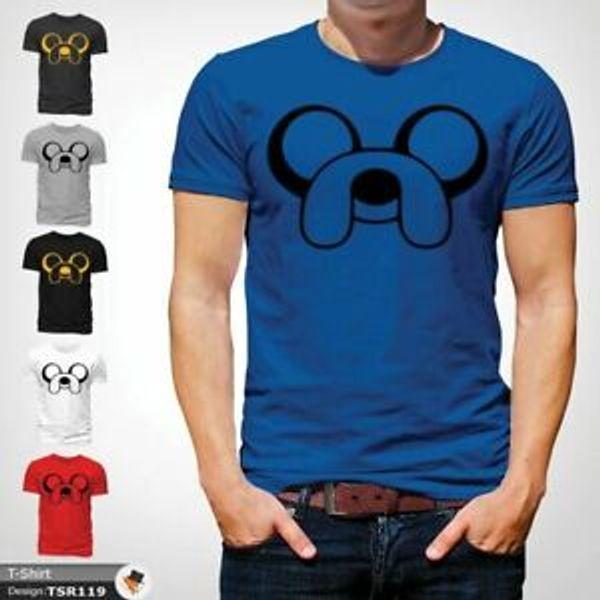 Curto-Luva Jake AMERICAN Cartoon Network KIDS camiseta azul