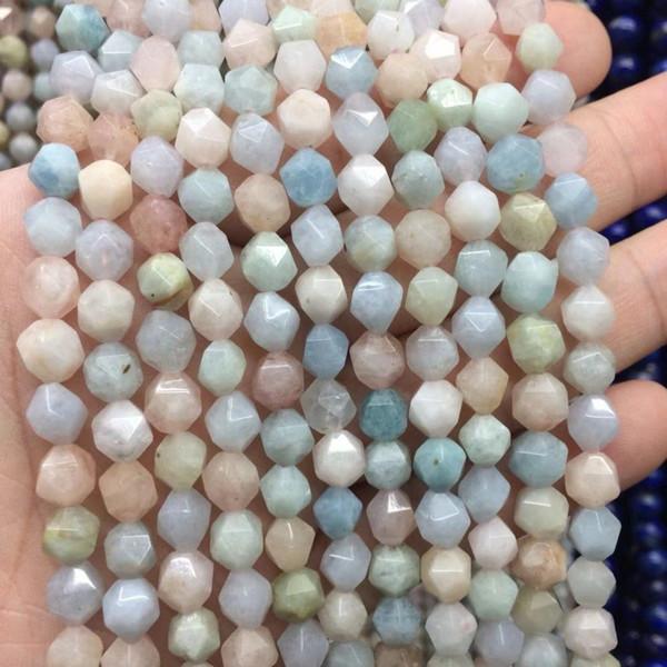 граненый натуральный камень Морган бусины природный камень камень бусины DIY свободные бусины для изготовления ювелирных изделий strand 15