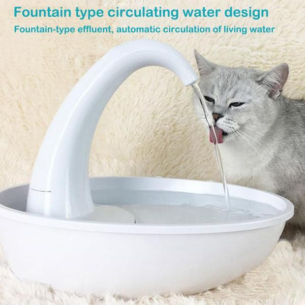 Kedi Su Pınarı Otomatik Sirkülasyon Besleme Su Akan Çeşme Pet Tiryakisi Kase Köpek DilsizDrinkleme Dağıtıcı Ve Filtre