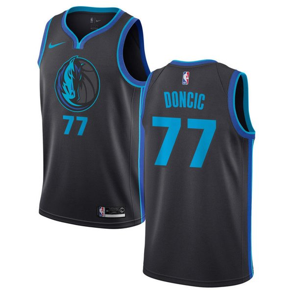 check out 0e98a c46cc 2019 Top Good Quality Dallas Maverick Jersey Black Luka Doncic Basketball  Jerseys Retro Mesh Mavericks Blue Dirk Nowitzki 77 Doncic From ...