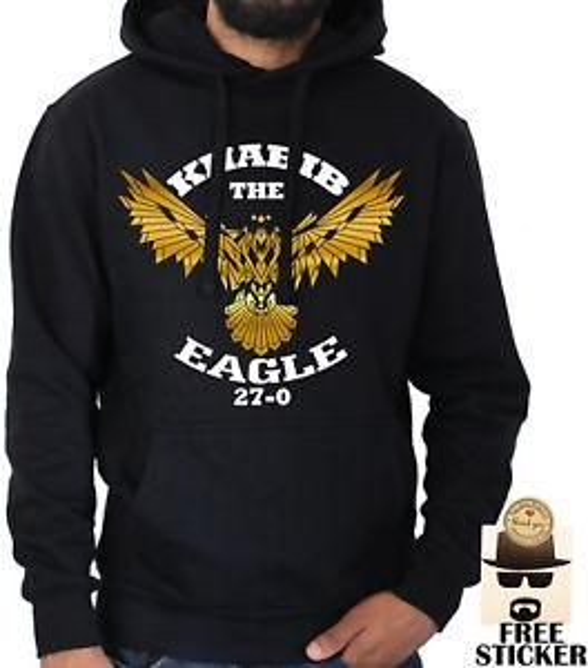 Khabib Nurmagomedov Moletom The Eagle 27 MMA Boxe Jumper Mens Novo XS XXL